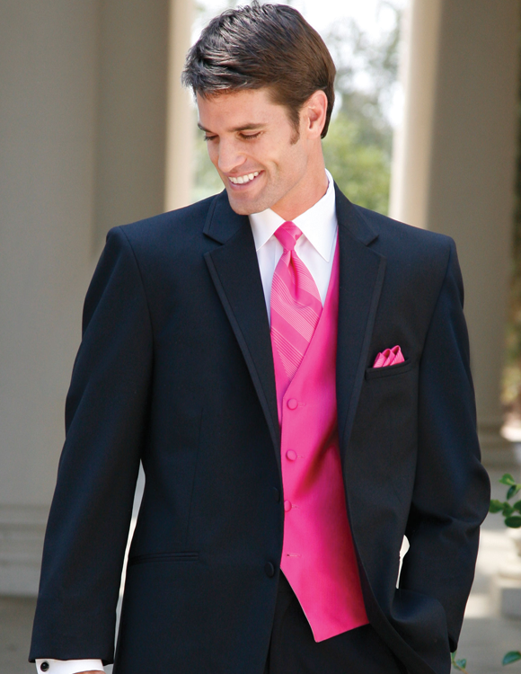 Red Sleeve Mens Formal Wear